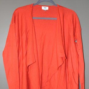 Red Old Navy Drape-front Cardigan